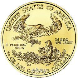 1/10 oz American Eagle. 9167 Gold BU Coin (Random Year) BRAND NEW