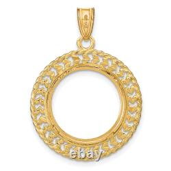 1/10 oz American Eagle Diamond-Cut Prong Set Coin Bezel with Dual Border
