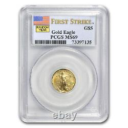 1/10 oz Gold American Eagle MS-69 PCGS (Random Year) SKU #83509