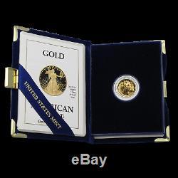 1/10 oz Proof Gold American Eagle (Random Year, withBox & COA) SKU #59207