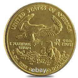 1/4 oz Gold American Eagle Abrasions (Random Year)