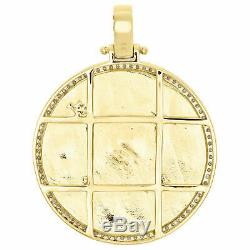10K Yellow Gold Over Diamond Seal of US President American Eagle Pendant Charm