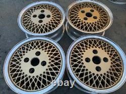 13 Gold Mesh Wheels Rims 192 92 4x100 Enkei Eagle American Racing