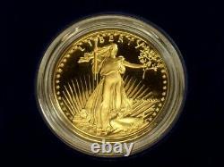 1986 American Gold Eagle Proof 1 oz. Deep Cameo with box & COA