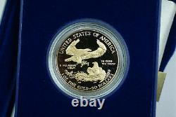 1986-W Proof 1 Oz American Gold Eagle $50 Coin with Box & COA
