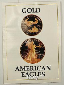 1987 US Eagle Gold Bullion One Ounce & Half Ounce Coins Proof With Box & COA set