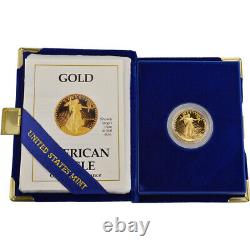 1988-P American Gold Eagle Proof (1/4 oz) $10 in OGP