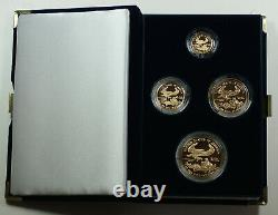 1989 American Eagle Gold Proof 4 Coin Set AGE in Box with COA