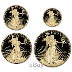 1989 American Gold Eagle Proof Four-Coin Set