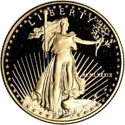 1989-P American Gold Eagle Proof 1/2 oz $25 Coin in Capsule
