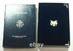 1990 American Eagle Gold Proof 4 Coin Set AGE in Box with COA Roman Numerals