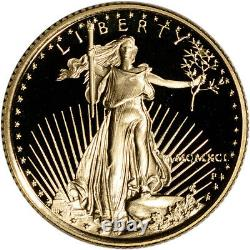 1991-P American Gold Eagle Proof 1/4 oz $10 Coin in Capsule