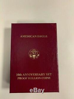1995 United States Mint 10th Anniversary Gold Bullion Proof Set