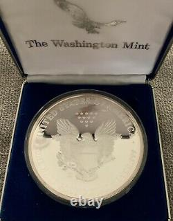 1997 Giant Half-Pound Pure Silver Eagle Proof. 999 Round 1/2lb. Coin & Case COA