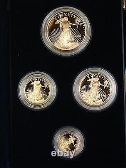 2005 US Mint American Gold Eagle AGE 4 Coin Proof Set as Issued with COA NO box