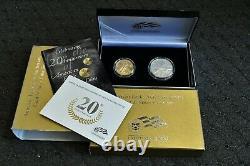 2006 W American Eagle 20th Anniversary Gold & Silver Coin Set