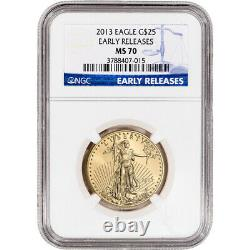 2013 American Gold Eagle 1/2 oz $25 NGC MS70 Early Releases