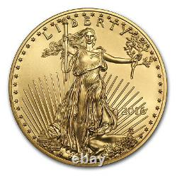 2016 1/2 oz Gold American Eagle BU SKU #93744