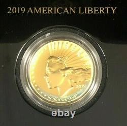 2019 American Liberty One Ounce Gold High Relief Coin