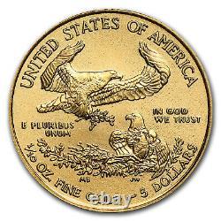 2020 1/10 oz American Gold Eagle BU Tube of 50