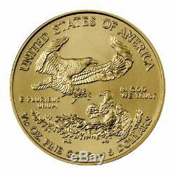 2020 1/10 oz Gold American Eagle $5 GEM Brilliant Uncirculated Coin