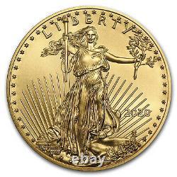 2020 1/2 oz Gold American Eagle BU SKU#196125