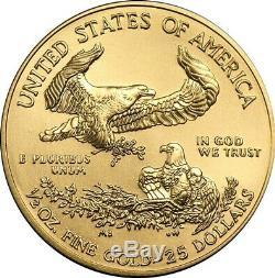 2020 1/2 oz Gold American Eagle Coin Brilliant Uncirculated