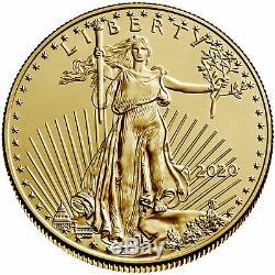 2020 $50 American Gold Eagle 1 oz Brilliant Uncirculated