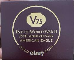 2020 End World War II 75th Anniversary American Eagle Gold PF70 ULTRA CAMEO V75