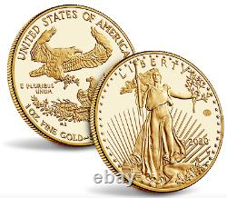 2020 End of World War II 75th Anniversary American Eagle Gold Proof Coin 20XE