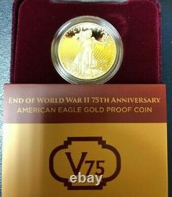 2020 End of World War II 75th Anniversary V75 American Eagle Gold Proof