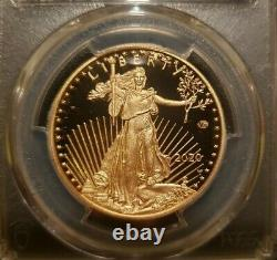 2020-W $50 Gold American Eagle WWII 75th PCGS PR70 First Strike V75 Privy Label