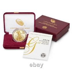 2020 W American Gold Eagle Proof 1 oz $50 in OGP