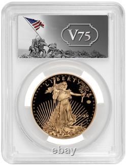 2020-W End of WWII 75th Anniversary $50 Gold Eagle V75 PCGS PR70 DCAM FDI