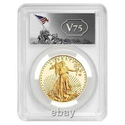 2020-W V75 1 oz Proof Gold American Eagle End of WWII PCGS PF 70 FDOI (Iwo Jima)