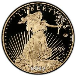 2020-W v75 Privy 1 oz Proof Gold Eagle End of World War II 75th Anniv PCGS PR69