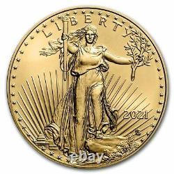 2021 1/10 oz American Gold Eagle BU (Type 2) SKU#229438