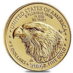 2021 1/10 oz Gold American Eagle $5 Coin BU Type 2