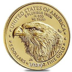 2021 1/10 oz Gold American Eagle Type 2 PCGS MS 69 First Strike