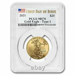 2021 1/2 oz American Gold Eagle MS-70 PCGS (First Day of Issue) SKU#221520