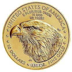 2021 1/4 oz American Gold Eagle Coin Type 2 BU $10