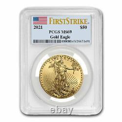 2021 1 oz American Gold Eagle MS-69 PCGS (FirstStrike) SKU#221512