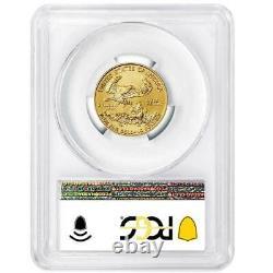 2021 $10 American Gold Eagle 1/4 oz. PCGS MS70 FDOI Flag Label