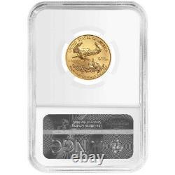 2021 $10 Type 1 American Gold Eagle 1/4 oz NGC MS69 Black Label
