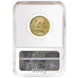 2021 $10 Type 1 American Gold Eagle 1/4 oz. NGC MS69 Brown Label