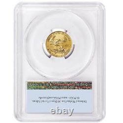 2021 $5 American Gold Eagle 1/10 oz. PCGS MS69 First Strike Flag Label