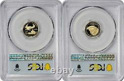 2021 $5 American Gold Eagle Designer Edition 2-Coin Set PR70DCAM FDOI PCGS
