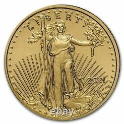 2021 $5 Gold American Eagle Gem Coin Set In 14-kt Teardrop Bezel $488.88