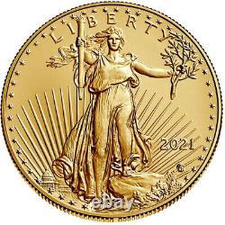 2021 $5 Type 2 American Gold Eagle 1/10 oz Brilliant Uncirculated