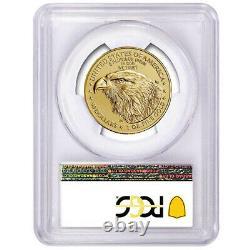 2021 $50 Type 2 American Gold Eagle 1 oz. PCGS MS70 FDOI Flag Label